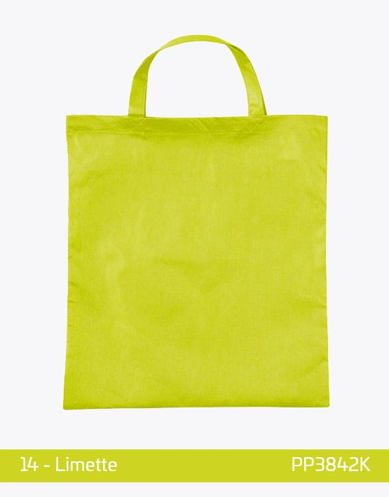 PP Tasche Limette kurze Henkel