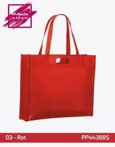 PP Tasche rot City Shopper 1 lange Henkel 44x38x10cm