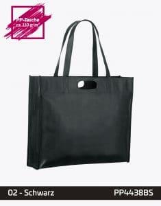 PP Tasche schwarz City Shopper 1 lange Henkel 44x38x10cm