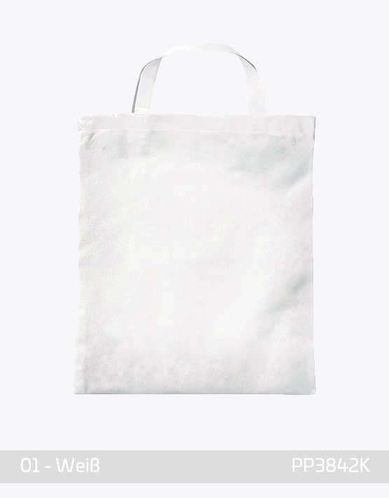 PP Tasche weiss kurze Henkel