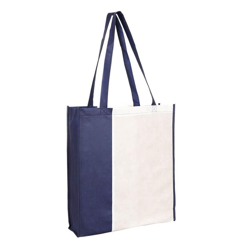 PP City Bag 3 mit langen Henkeln in Weiß/Dunkelblau | Druckerei Dorsten.de