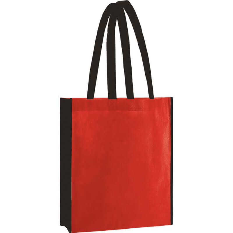 PP Tasche City Bag 2 mit langen Henkeln in Rot/Schwarz | Druckerei Dorsten.de