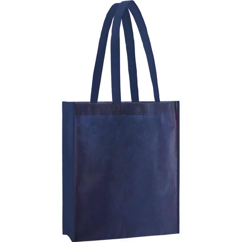 PP Tasche City Bag 2 mit langen Henkeln in Dunkelblau | Druckerei Dorsten.de