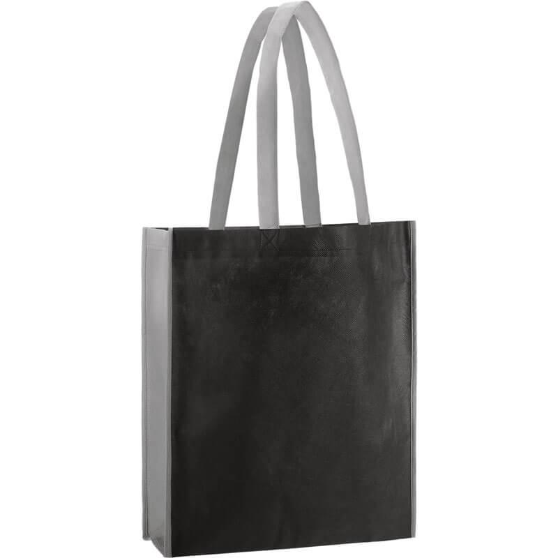 PP Tasche City Bag 2 mit langen Henkeln in Schwarz/Grau | Druckerei Dorsten.de