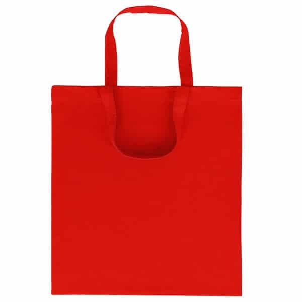 Goprom Baumwolltaschen kurze Henkel red rot 38 x 42 cm 2315