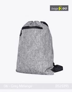Gymsac Miami PP Turnbeutel Grey Melange bags2go BS15391