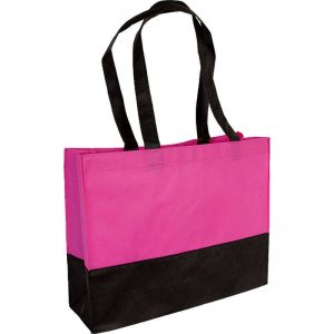 PP Tasche City Bag mit langen Henkeln Pink/Schwarz | Druckerei Dorsten.de-schwarz