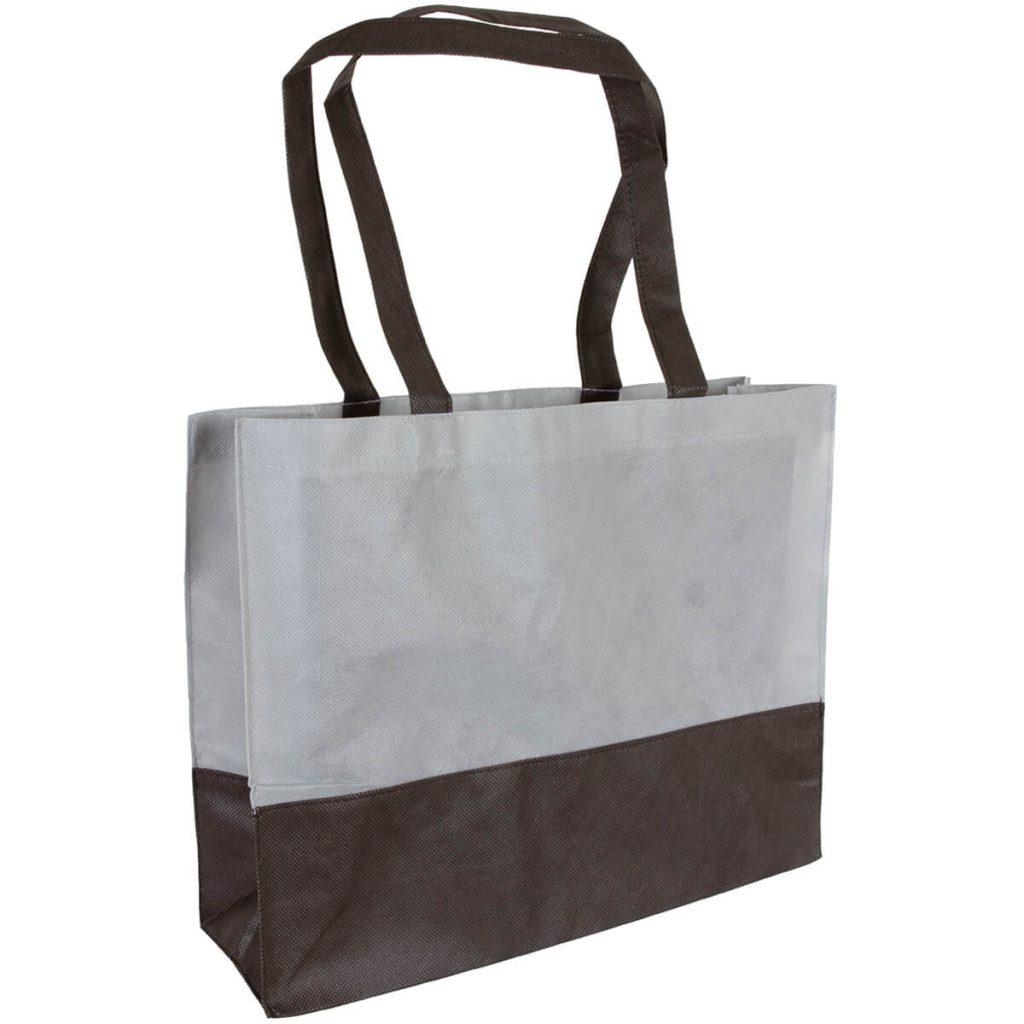 PP Tasche City Bag mit langen Henkeln Grau/Schwarz   Druckerei Dorsten.de-schwarz