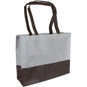 PP Tasche City Bag mit langen Henkeln Grau/Schwarz | Druckerei Dorsten.de-schwarz