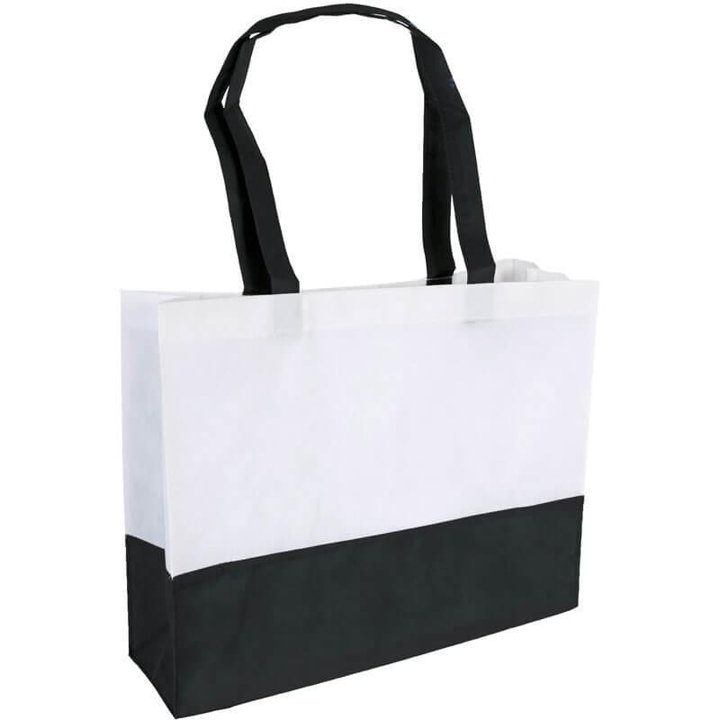 PP Tasche City Bag mit langen Henkeln Schwarz/Weiß   Druckerei Dorsten.de-schwarz