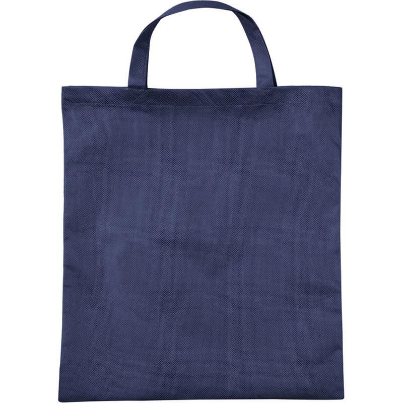 PP-Tasche mit Bodenfalte mit kurze Henkel in Dunkelblau | Druckerei Dorsten.de