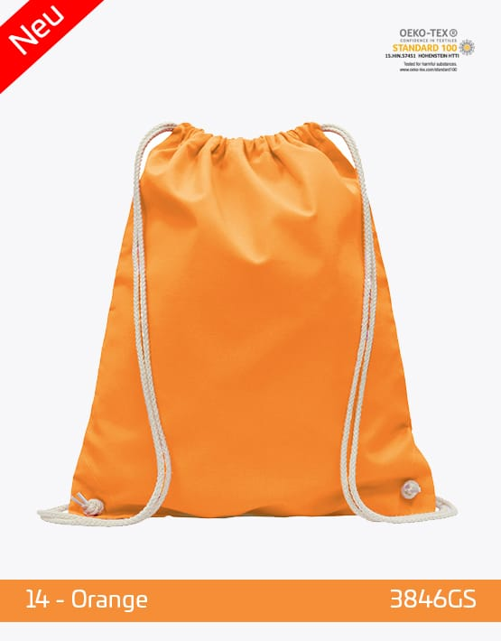 Turnbeutel Baumwolle Orange 38 x 46 cm