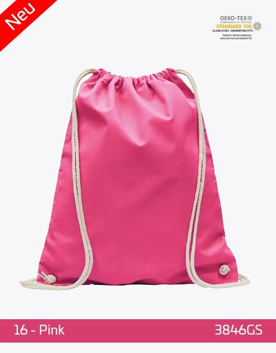Turnbeutel Baumwolle Pink 38 x 46 cm