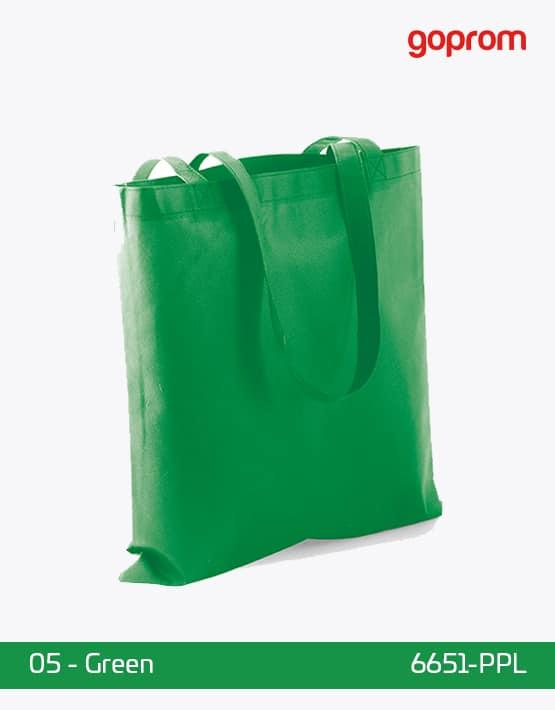 PP Non-Woven Tasche Green lange Henkel