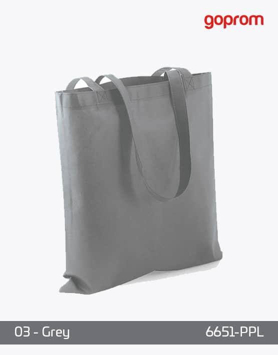PP Non-Woven Tasche Grey lange Henkel
