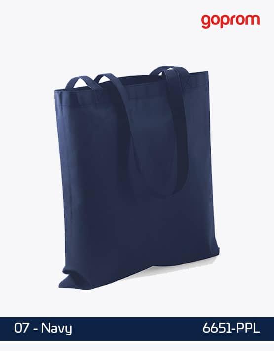 PP Non-Woven Tasche Navy lange Henkel