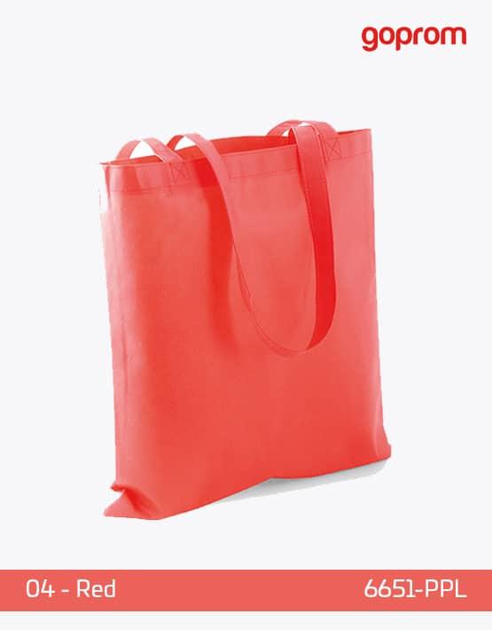 PP Non-Woven Tasche Red lange Henkel