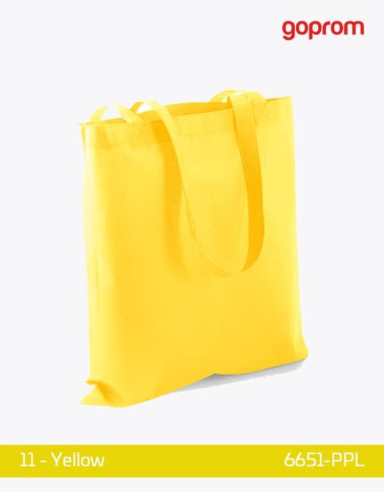 PP Non-Woven Tasche Yellow lange Henkel