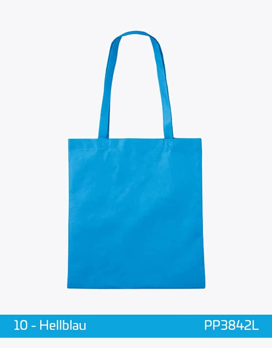 PP Tasche lange Henkel Hellblau