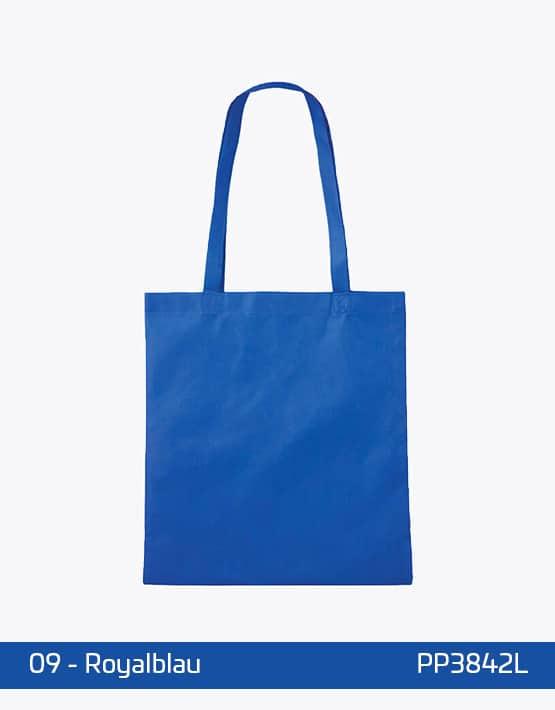 PP Tasche lange Henkel Royalblau