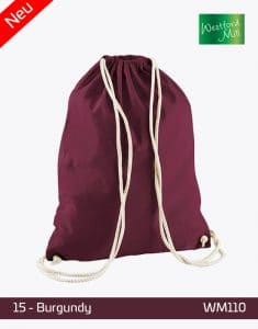 Turnbeutel Westford Mill WM110 Gymsac Burgundy