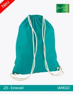 Turnbeutel Westford Mill WM110 Gymsac Emerald