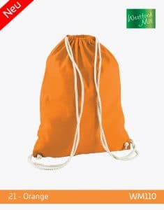 Turnbeutel Westford Mill WM110 Gymsac Orange