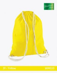 Turnbeutel Westford Mill WM110 Gymsac Yellow