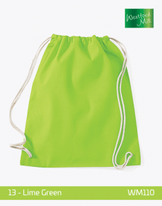 Turnbeutel Westford Mill WM110 Gymsac Lime Green