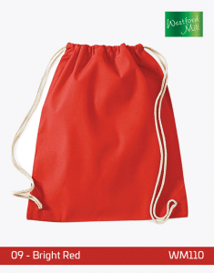 Turnbeutel Westford Mill WM110 Gymsac Bright Red