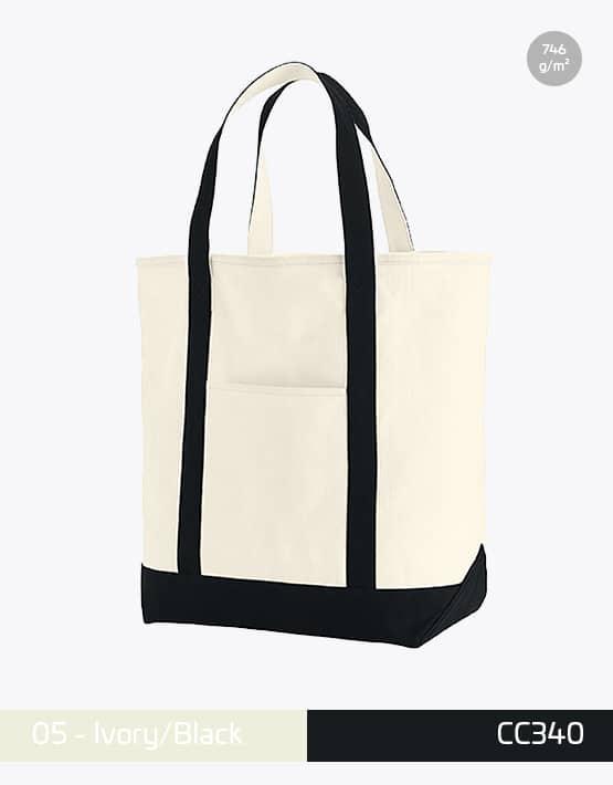 Canvas Heavy Bag CC340 Ivory Black