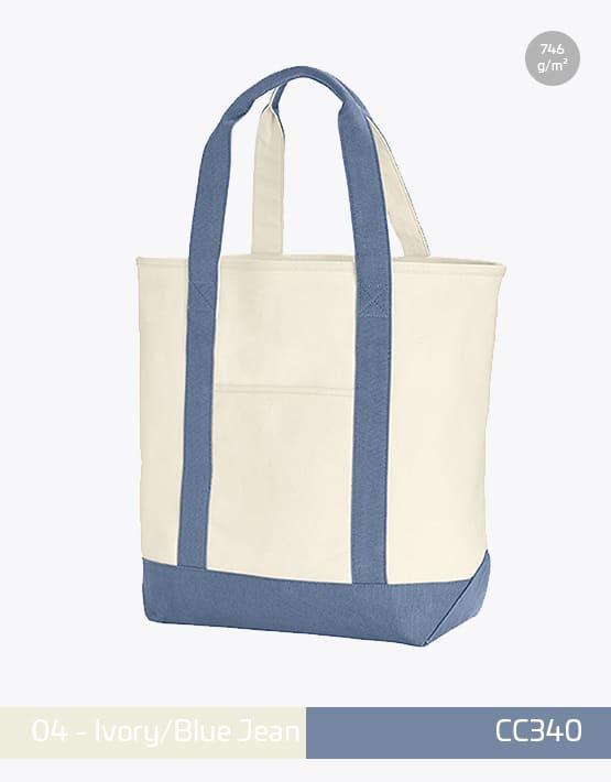 Canvas Heavy Bag CC340 Ivory Blue Jean