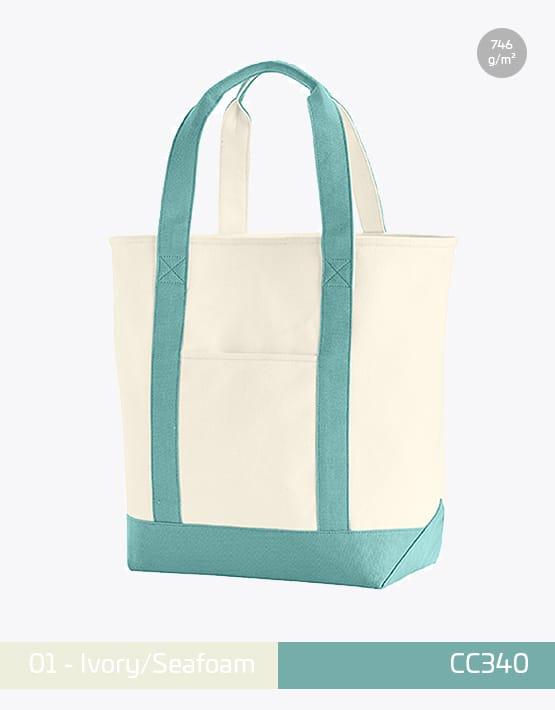 Canvas Heavy Bag CC340 Ivory Seafoam
