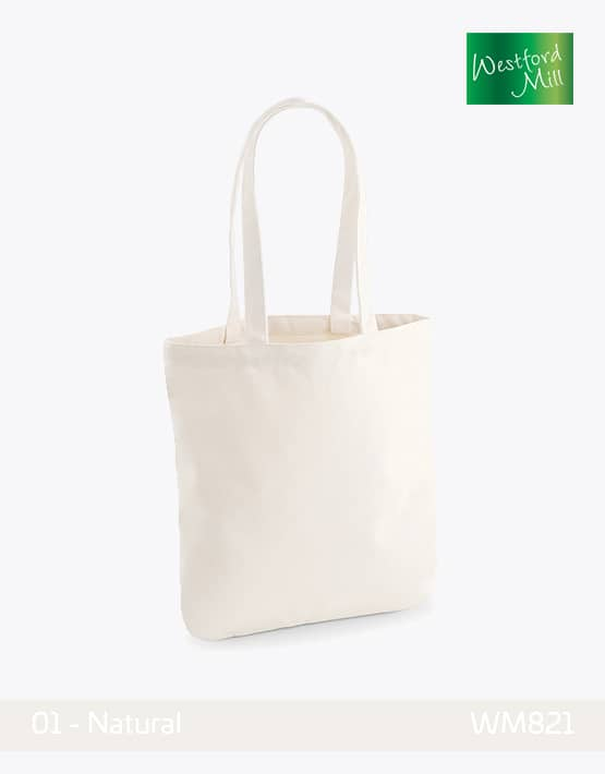 WESTFORD MILL ORGANIC SPRING TOTE BAG W821 Natural