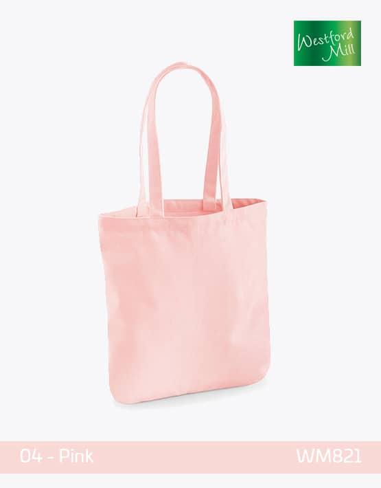 WESTFORD MILL ORGANIC SPRING TOTE BAG W821 Pink