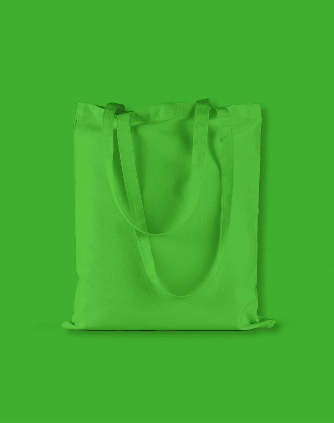 baumwolltaschen bunt apple green lange henkel 38x42cm