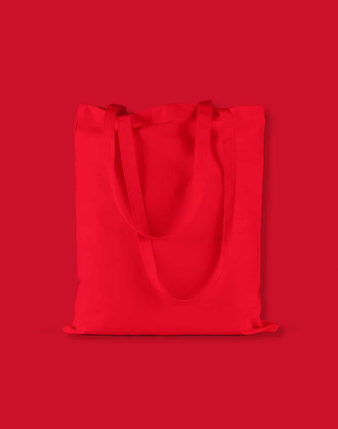 baumwolltaschen bunt bright red lange henkel 38x42cm