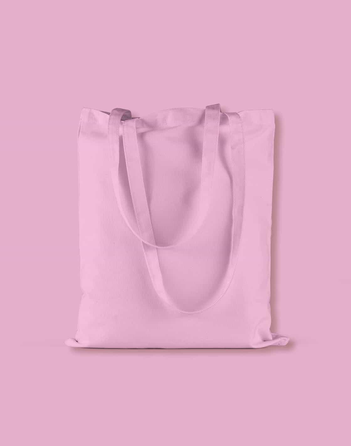 baumwolltaschen bunt classic pink lange henkel 38x42cm