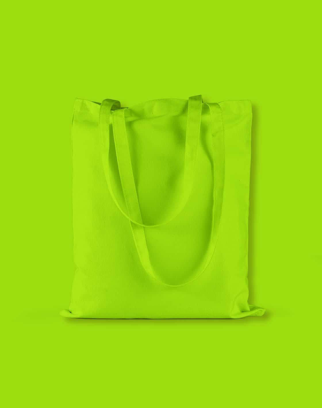 baumwolltaschen bunt lime green lange henkel 38x42cm