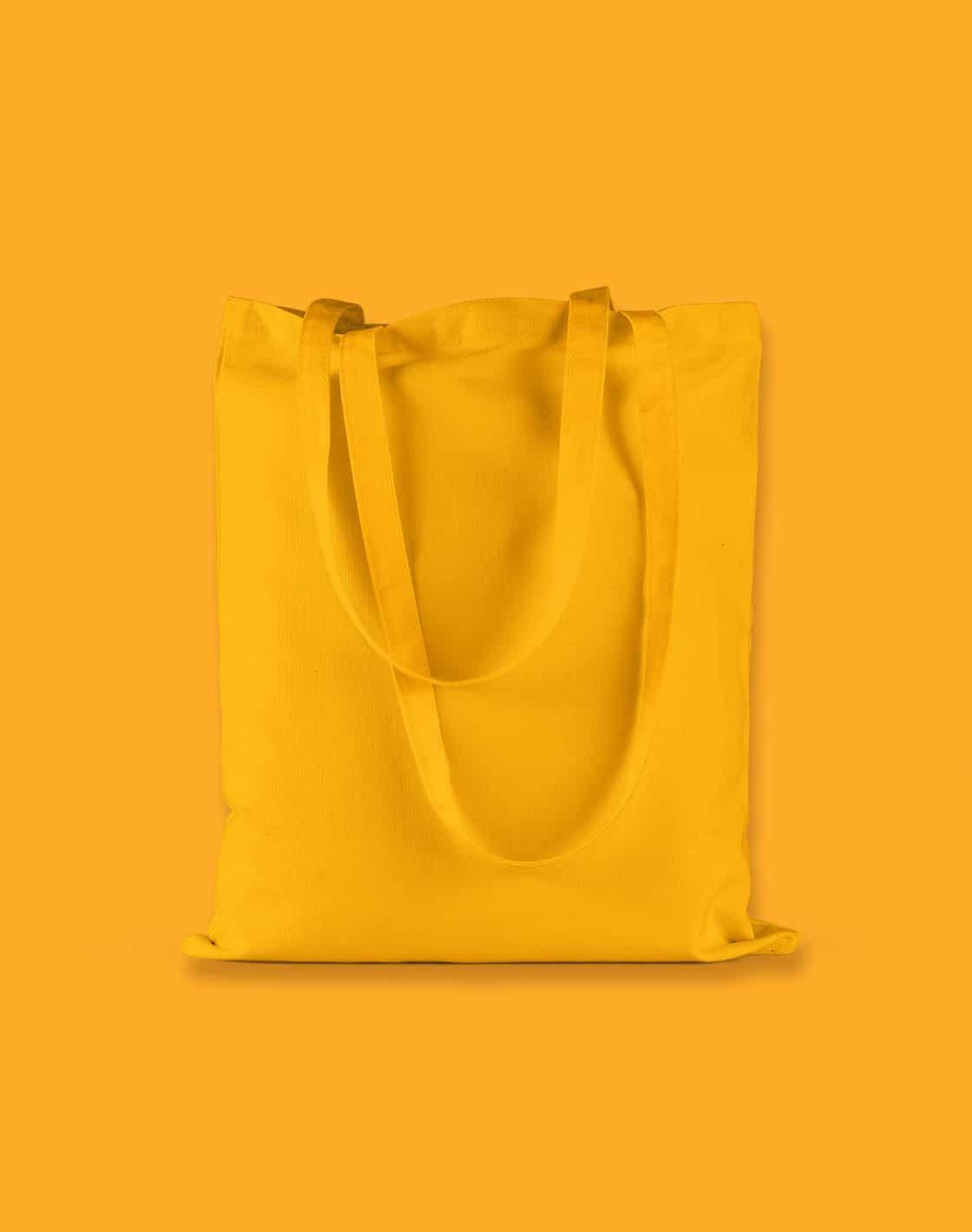 baumwolltaschen bunt mustard lange henkel 38x42cm