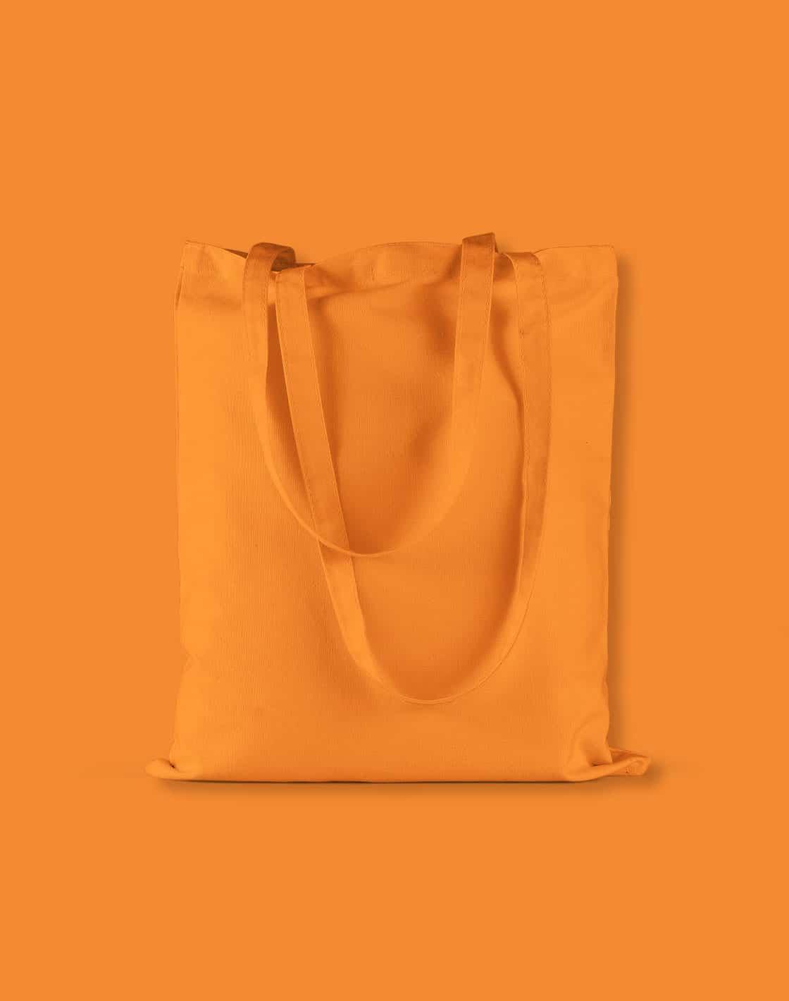 baumwolltaschen bunt orange lange henkel 38x42cm