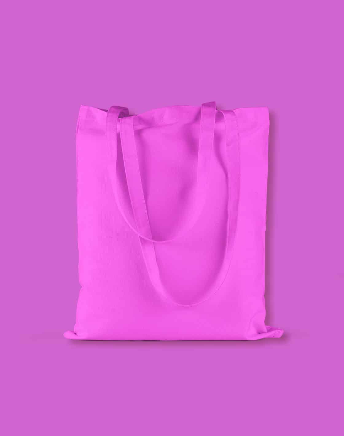baumwolltaschen bunt true pink lange henkel 38x42cm