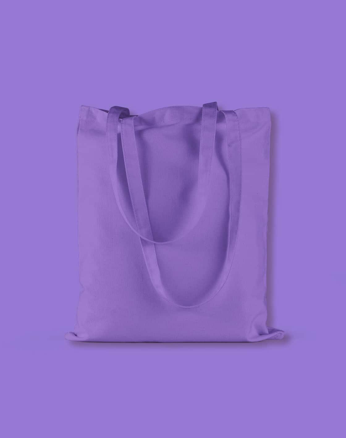 baumwolltaschen bunt violet lange henkel 38x42cm