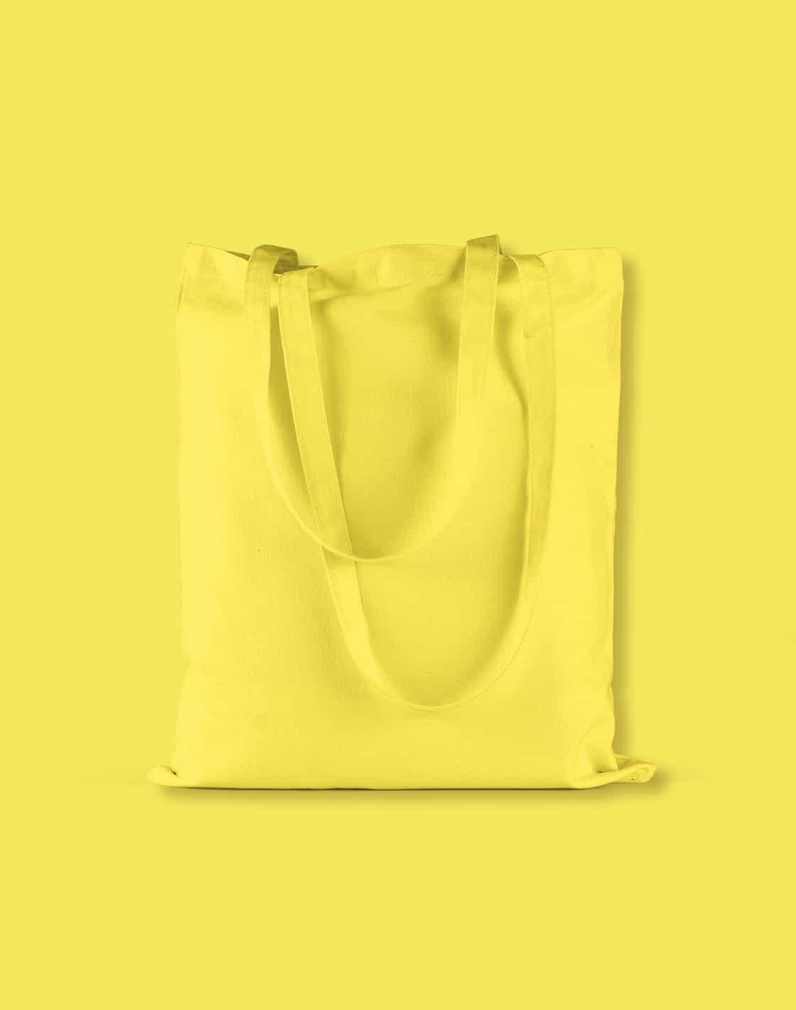 baumwolltaschen bunt yellow lange henkel 38x42cm
