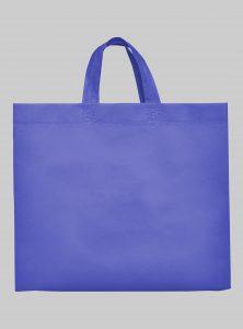 Einkaufstasche Boden und Seitenfalte Energy Blau 35 x 40 x 12 cm