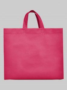 Einkaufstasche Boden und Seitenfalte Pink 35 x 40 x 12 cm