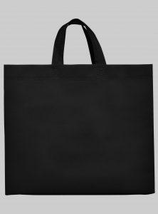 Einkaufstasche Boden und Seitenfalte Schwarz 35 x 40 x 12 cm