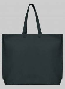Einkaufstasche im Querformat Graphit 44 x 35 x 10 cm