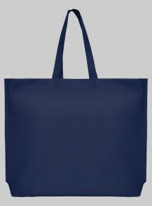 Einkaufstasche im Querformat Navy 44 x 35 x 10 cm