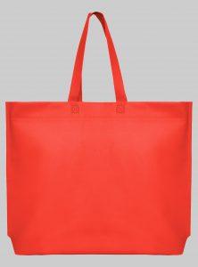 Einkaufstasche im Querformat Rot 44 x 35 x 10 cm